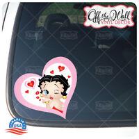 Betty Boop Blowing a Kiss -- Car/Truck Laptop Vinyl Decal Sticker