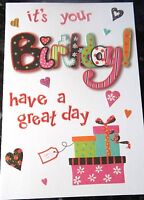 It's Your Birthday - Have a Great Day. Birthday card by Eclipse Cards.