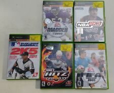 XBOX Game Lot: Madden 05, NBA 2K3, Baseball 2K5, FIFA Soccer 05, and NHL Hitz 03