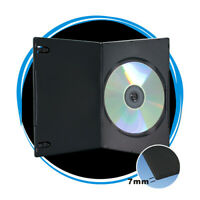 7mm Black Slim CD DVD Blu Ray Media Storage Case Holder Wholesale Lot