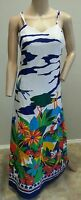 Vtg 60's Tori Richard Honolulu Neiman Marcus Animal Jungle Floral Maxi Dress 12