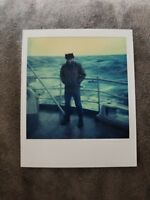 Vintage POLAROID Fishing Ship Atlantic Ocean Photo Photograph Snapshot COLOR