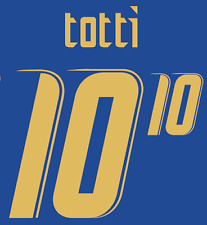 Italy Totti Nameset 2006 Shirt Soccer Number Letter Heat Print Football Home