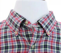 Ralph Lauren Classic Fit Men Button Down Shirt Plaid Tartan Red Green Sz XXL 2XL