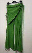 Belly Dancing Trousers - Green with overskirt