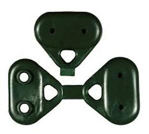 100 bottoni ganci clips rete Verde per telo ombreggiante ombra telone oscurante