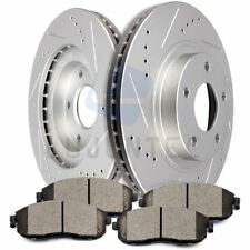 Front Brake Discs Rotors And Ceramic Pads For G35 2003 2004 2005 Drilled Slotted