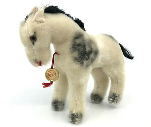 Hermann Pony Horse Mohair Plush 12cm 5in Swing Tag ID 1960s Germany Vtg