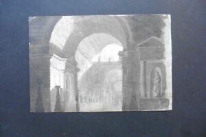 ITALIAN-VENETIAN SCHOOL CA. 1800 - ARCHITECTURAL CAPRICCIO - FINE INK DRAWING