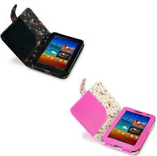 For Samsung Galaxy P6200 Tab 7.0 Plus Floral PU Leather Folio Wallet Case Cover