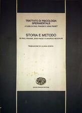 PIAGET FRAISSE TRATTATO DI PSICOLOGIA SPERIMENTALE STORIA E METODO EINAUDI 1970
