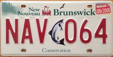 Salmon Conservation license Plate Fish Park wildlife wild animal Fishing NAV 064