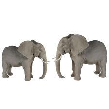Casablanca Elefant Keramik 24x38x29cm Grau Skulptur Elefantenskultpur Figur Deko