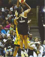 Jia Perkins Signed 8 x 10 photo Wnba Basketball San Antonio Stars Free Shipping