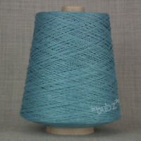 SOFT 4 PLY PURE COTTON YARN WEDGWOOD BLUE 500g CONE 10 BALL CROCHET KNIT WEAVING