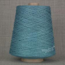 SOFT 4 PLY PURE COTTON YARN WEDGWOOD BLUE 500g CONE 10 BALL CROCHET KNIT WEAVING