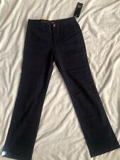 Lee Girls' Original Straight Leg Twill Pant Navy (14)