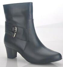 Women's Black Leather Boots Size EUR 37-42 WITH FREE BELT