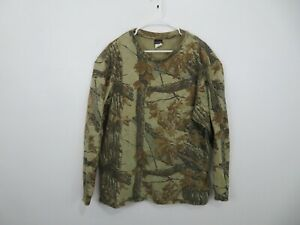 Vintage Rattlers Brand USA RealTree Camouflage Hunting Camo Shirt Mens Size XL