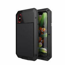 Gorilla Glass Metal Military Armor Waterproof Case iPhone SE 11 X 8 7 6 5