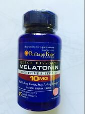 MELATONIN QUICK DISSOLVE 10MG SLEEP ANTI-AGING INSOMNIA FREE SHIPPING FROM UK