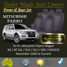 Tailor Made Black Seat Covers for Mitsubishi Pajero 4 Door Wagon: 11/2006 - ON