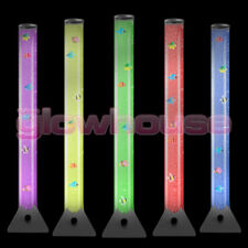 Large 100cm Colour Changing LED Sensory Bubble Tube Lamp Mood Fish Water Floor