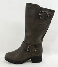 NEW Womens Fashion Shoes Casual Riding Knee High Casual Boots Zipper Side Buckle
