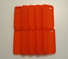 Lot of 10 TPU Soft Gel Skins Cases For Apple iPhone 4 RED