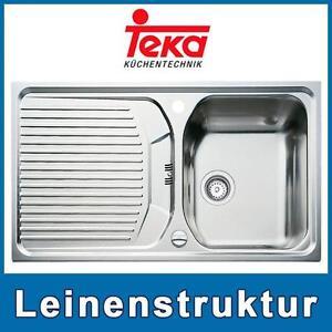Einbauspüle Teka Texina 45  Leinen Edelstahlspüle Spüle Spülenbecken Küchenspüle