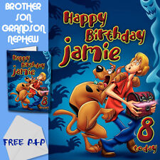 SCOOBY DOO - PERSONALISED Birthday Card Son Brother Nephew Grandson