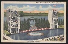 Postcard MINNEAPOLIS Minnesota/MN  Wirth Swimming Pool view