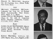 1968 Harvard Law School Yearbook~Author James McPherson~Elbow Room~Kimba Wood~++