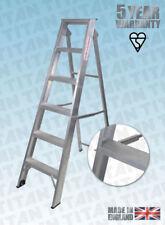 More details for builders steps folding step ladders aluminium class 1 industrial - titan