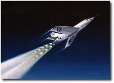 First of the Spacemen by Mike Machat - Bell X-2 Rocketplane - Aviation Art Print