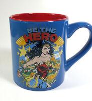 BE THE HERO Wonder Woman multicolored 14 oz. ceramic cup mug New DC Comics