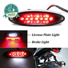 Universal 28LED Smoke Lens Motorcycles License Plate Brake Light Rear Tail Lamp