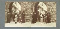 Viaggio IN Italia? A Identificare snapshot Foto C Stereo Vintage Citrato c1900