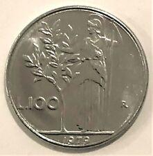 Vintage Republic Italiana Lire100 1979 coin
