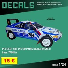 DECALS repro Peugeot 405 T16 GR Paris Dakar Rally Pioneer 1/24 1 24 Tamiya decal