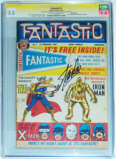 CGC 3.5 FANTASTIC #1~SIGNED STAN LEE~THOR-X-MEN-IRON MAN ORIGINS~RARE MARVEL UK