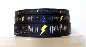 Harry Potter Printed Grosgrain Ribbon 10/16/22mm widths 1m 2m 5m lengths Black