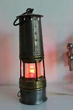 LAMPE DE MINEUR ancienne  électrifiée VERRE BACCARAT