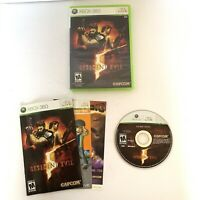Resident Evil 5 (Microsoft Xbox 360, 2009) Complete With Manual CIB