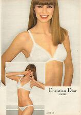 Publicité Advertising 1981 Lingerie Christian Dior soutien gorge slip