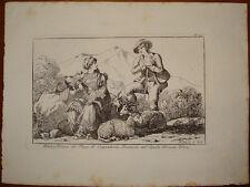 stampa antica old print Bartolomeo Pinelli 1816 abruzzo Gioia dei Marsi RARA
