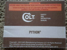 Original Colt Python Revolver Factory Safety And Instruction Manual 2003