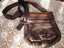 Fossil Vintage Brown Leather Shoulder Handbag RARE!!!!