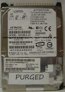 Hitachi DK23EA-40 40GB IDE 44pin 2.5in 9.5mm Drive Tested Good Our Drives Work