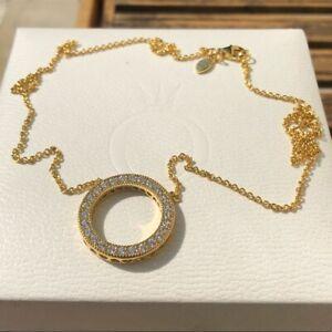 Pandora shine circle of sparkle necklace (genuine ale S925)